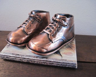 Vintage Bronze Baby Shoes