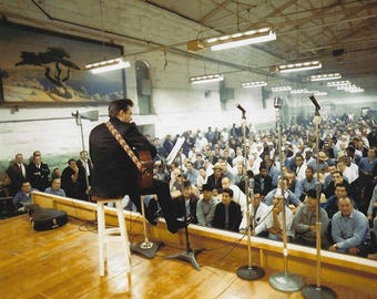Johnny Cash country music Folsom prison performance Wall art 8x10 photo poster print