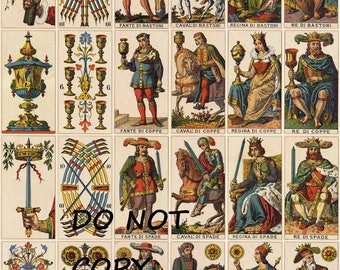 Old Tarot Card Instant Download