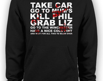 Shaun of the Dead Zombie Movie - Go to the Winchester Hoodie