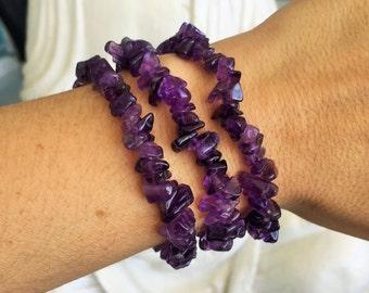 Amethyst Bracelet Healing Crystal Jewelry, Crown Chakra Healing Bracelet Jewelry from Uruguay