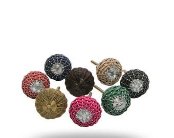 Set of 8 Weave Knobs