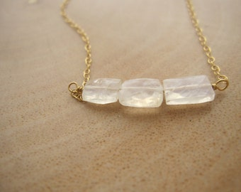 Rainbow Moonstone Dainty Bracelet, Faceted Moonstone Rectangles, Moonstone Bracelet, Minimalist Jewelry, Gifts Under 50