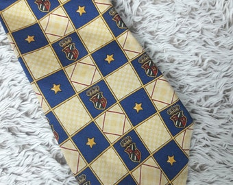 Tommy Hilfiger Stars and Stripes Necktie Red Gold Blue Classic