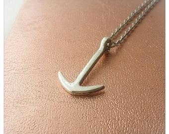 Minimalist necklace Sailor (anchor)