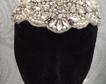 Gatsby headpiece  - Great Gatsby Headband - 1920s Art deco style flapper headband - Great Gatsby Headdress- Wedding -Party