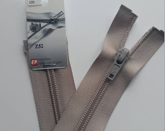 Detachable light gray zipper