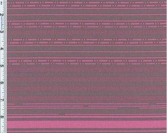 Grey/Pink Stripe Decor Cotton Twill, Fabric By The Yard