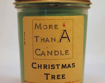8 oz Christmas Tree Soy Candle