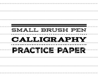 Small Brush Pen BLANK Practice Sheets