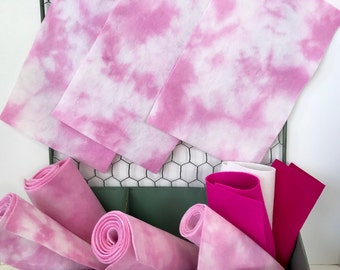 Hand Dyed Wool, Merino Wool Felt, Non Woven Fabric, Cherry Blossom, Wool Felt Sheet, Felt Flowers, Applique, Handwork, Embroidery