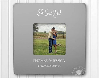 Personalized Engagement  Picture Frame She Said Yes Frame Personalized Wedding Shower Picture Frame Wedding Gift IB5FSWED