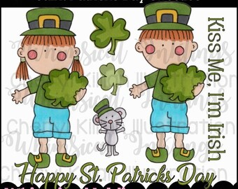 St. Patrick's Day Sweeties Clipart Collection- Immediate Download