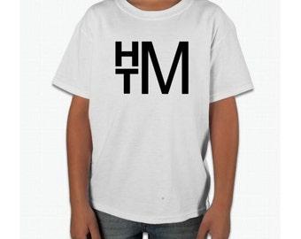 Youth Children's Monogram Shirt Boys Monogram Stacked