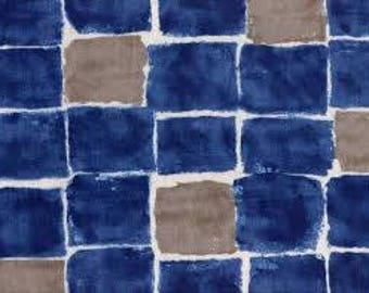 Kokka Trefle Cotton Double Gauze Windows Indigo Blue