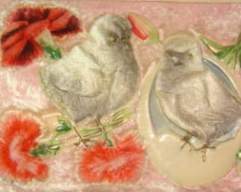 SALE 4 Higly Embossed Vintage Easter Postcards