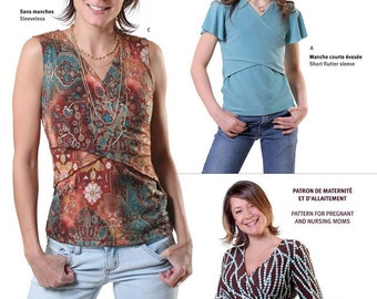 Jalie Criss-Cross Tops Sewing Pattern # 2787 in 27 Sizes Women & Girls + Maternity Option