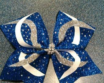 Royal blue cheer bow