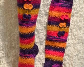 High knee wool socks
