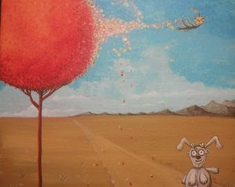 Tree of Fire. Original painting by Dieziriondo.