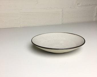 Small Shallow Bowl in Still White Glaze