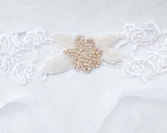 Gorgeous Organza Pearl and rhinestone head jewelry Headband