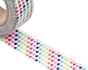Multicolor Hearts Washi Tape