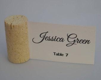 Blank Vertical Wine Cork Place Card Holders - Weddings - Parties Model 1