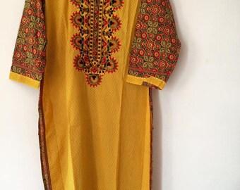 Indian Kurta Kurti Bollywood Embroidery Work-2XL