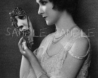 Feuille de collage numérique téléchargement automatique VINTAGE photo victorien femme Bohème Gypsy princesse papier approvisionnement impression d'Art