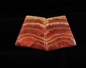 53.00cts 100% Natural Matched Pair Of Rhodochrosite 19x17x4mm Loose Cabochon Gemstone NH379