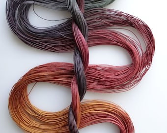 "Size 80 ""Knitty Gritty"" hand dyed tatting thread 6 cord cordonnet crochet cotton"