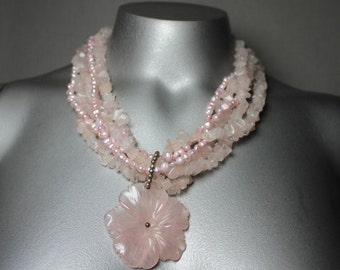 Pretty in Pink Necklace Weddings, Formal Party, Proms