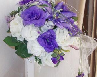 artificial bridal bouquet for purple bridal bouquet