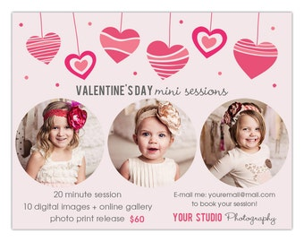 Valentine's Day Photography Marketing Board for Mini Sessions INSTANT DOWNLOAD