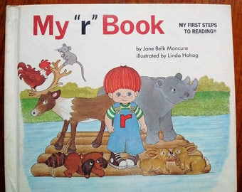 """My """"r"""" Book by Jane Belk Moncure, My First Steps to Reading, phonics beginning reader, Vintage"""