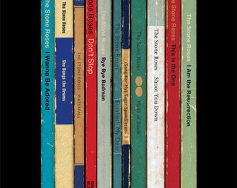 The Stone Roses Poster Print Debut Album As Penguin Books Music Poster