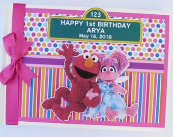 Sesame Street Elmo and Abby Birthday Guest Book / Scrapbook - any design