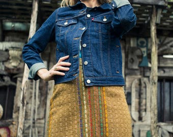 Vintage Fringe Mini Skirt