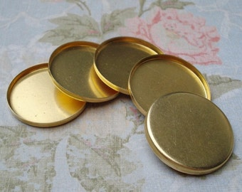 25mm Round Brass Closed Back Bezel Settings with 2.6mm High Wall for Flat Back Cabs, Resin, Fimo or Jewels 12pcs