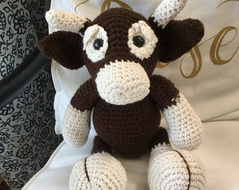 Bull Handmade/Crocheted Stuffed Toy