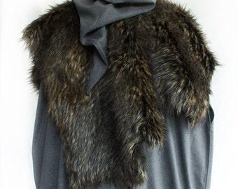 Reversible Fur Mantle