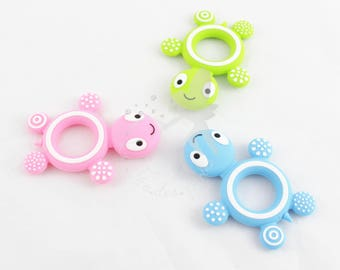 Silicone turtle  teether, for baby