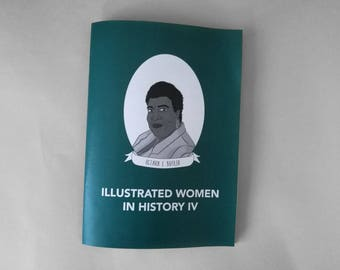 A5 FULL COLOUR - Illustrated Women in History 4 zine feat. 20 Women in History