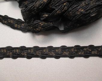 Antique Braid Trim Metallic Victorian era