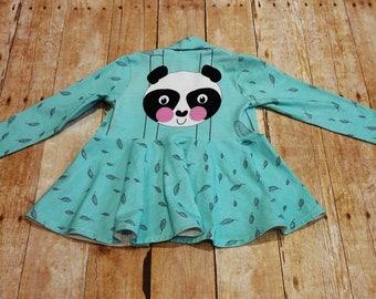 Fern Panda 4T Long sleeve Open Fitted Cardigan
