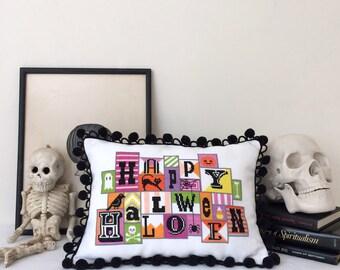 Happy Halloween - Satsuma Street modern cross stitch pattern PDF - Instant download