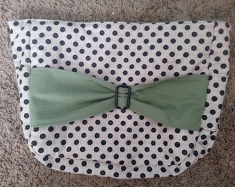 Green Polka Dot Bow Purse