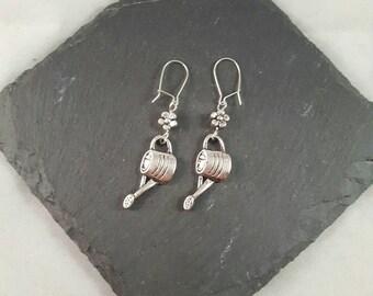 Watering Can Earrings - gardening earrings - gardening gift - mothers day gift - garden jewellery - gardener gift - allotment gift