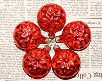 Vintage Christmas pink ornaments Christmas balls pink Christmas decor Christmas bauble ornaments set Christmas tree Russian Christmas